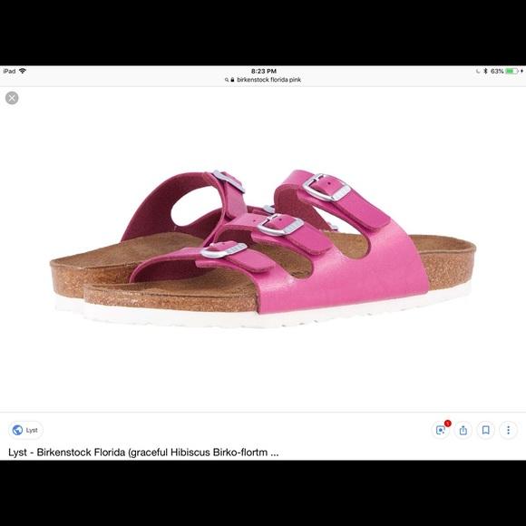 7128e84010e Birkenstock Pink Florida Sandal Sz 10. M 5c0dbf34409c1580e5e2914c